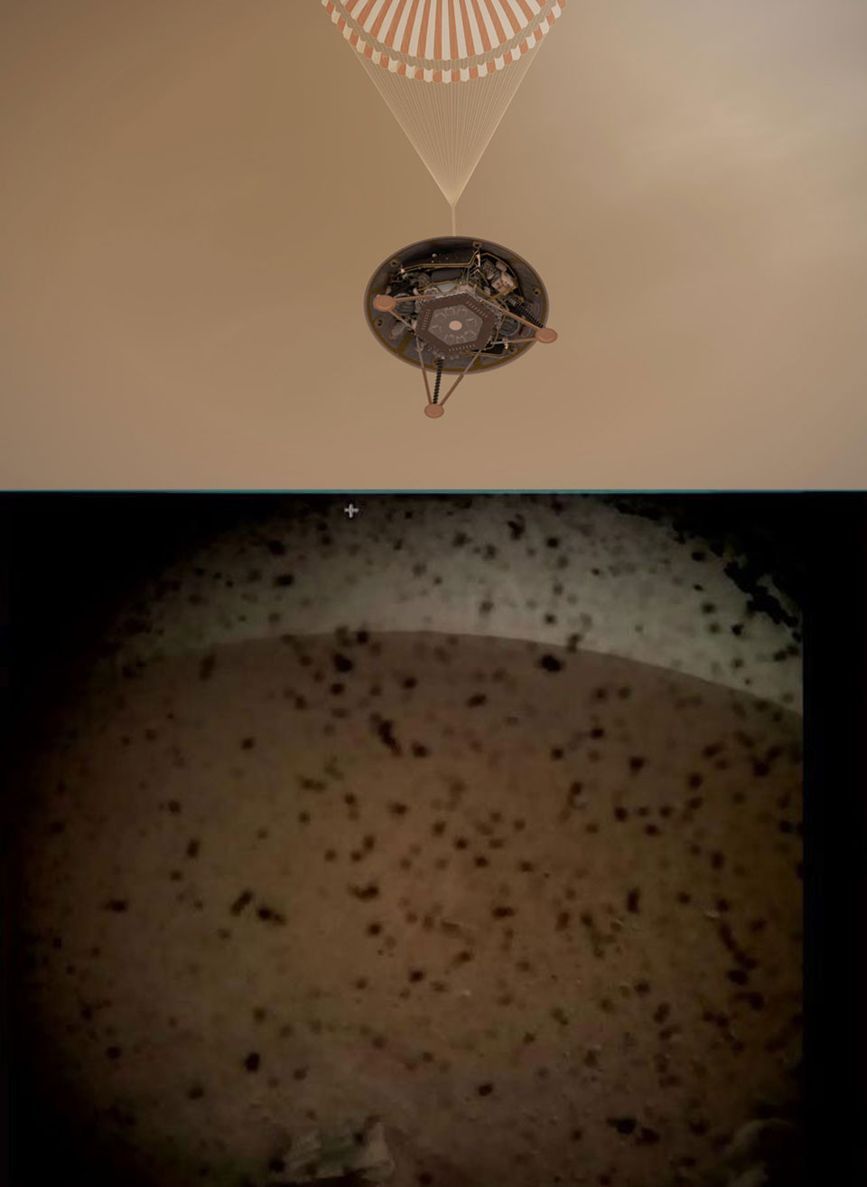 NASA InSight Lander Lands