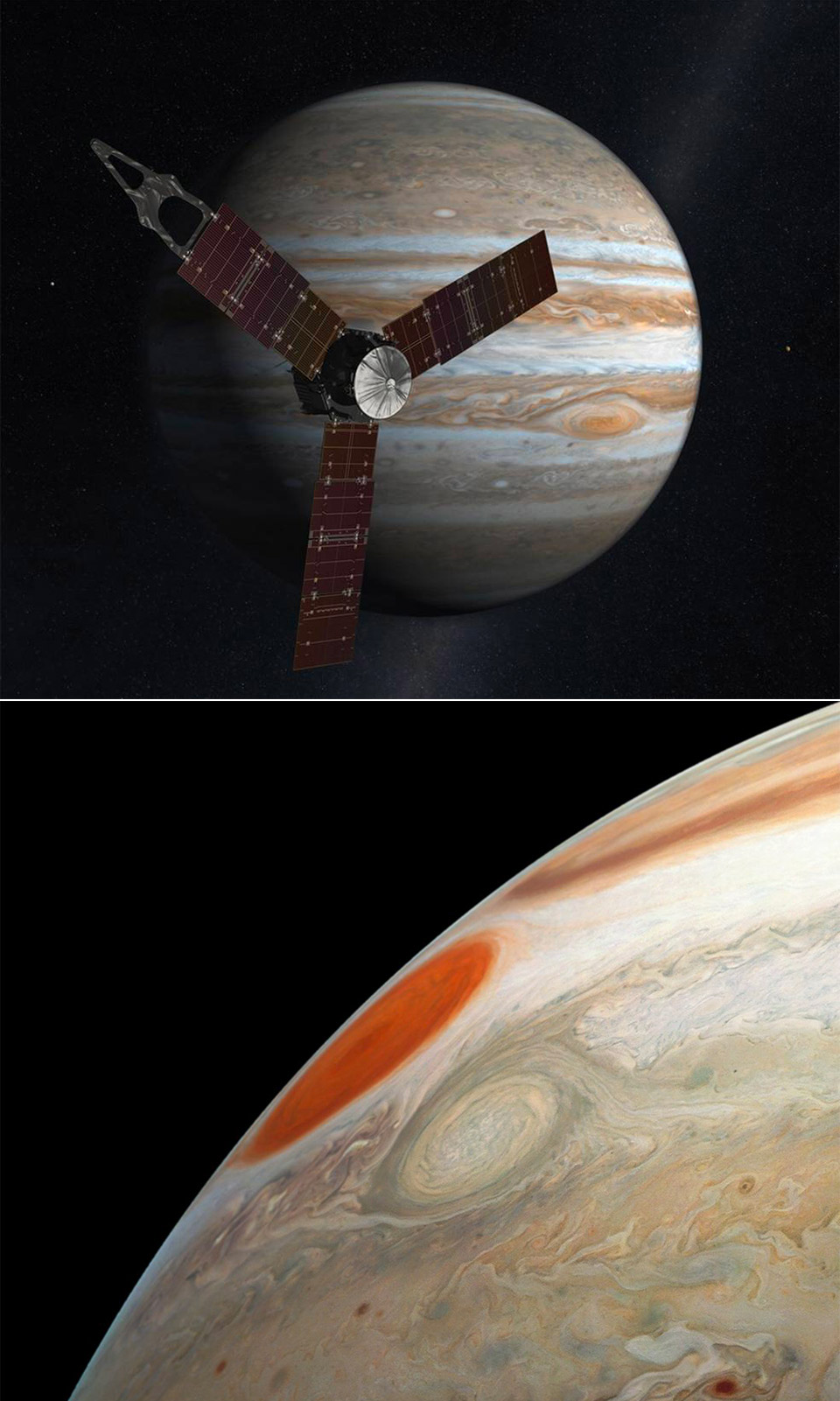 NASA Juno Great Red Spot Jupiter