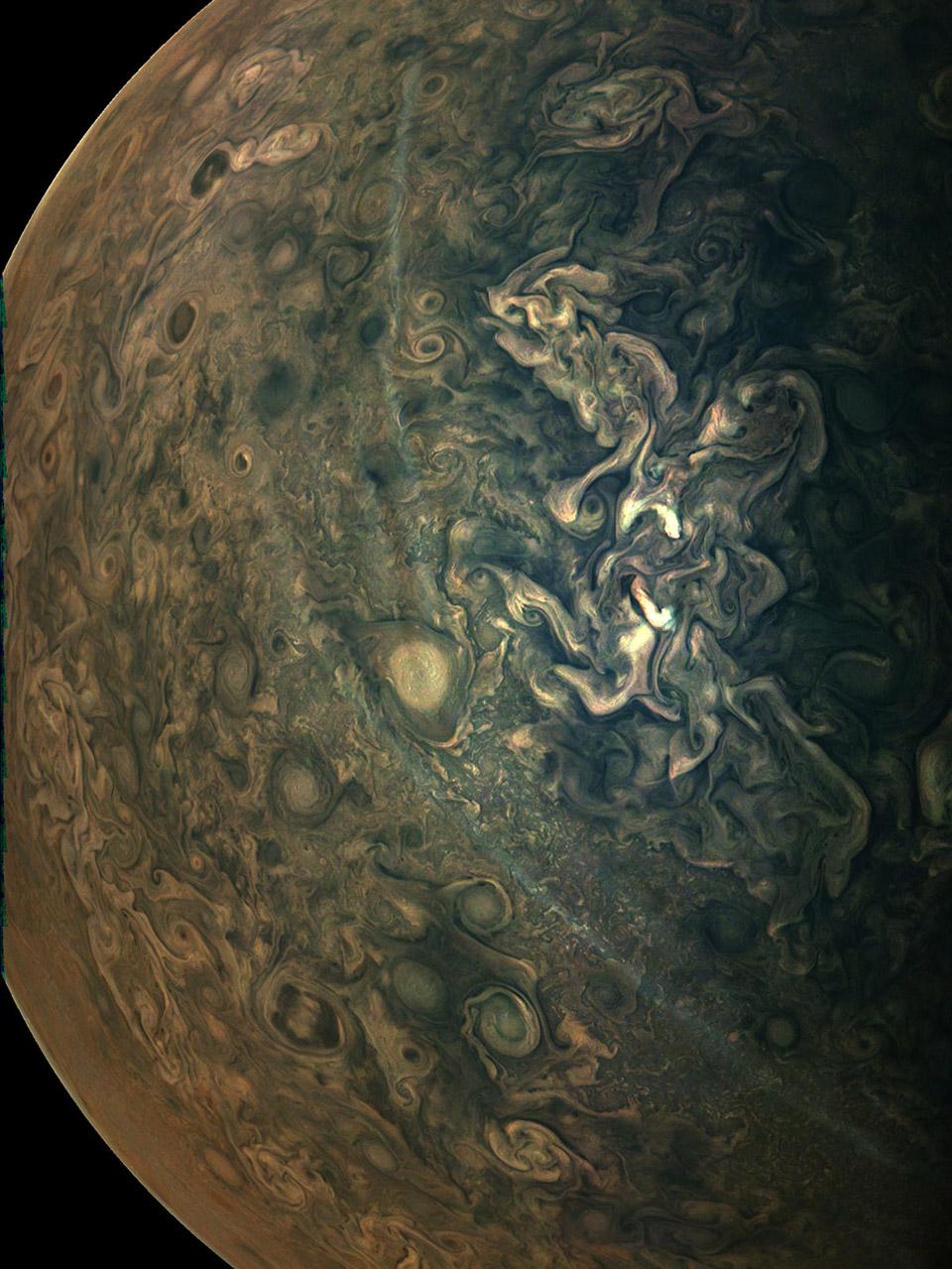 NASA Juno Jupiter Clouds