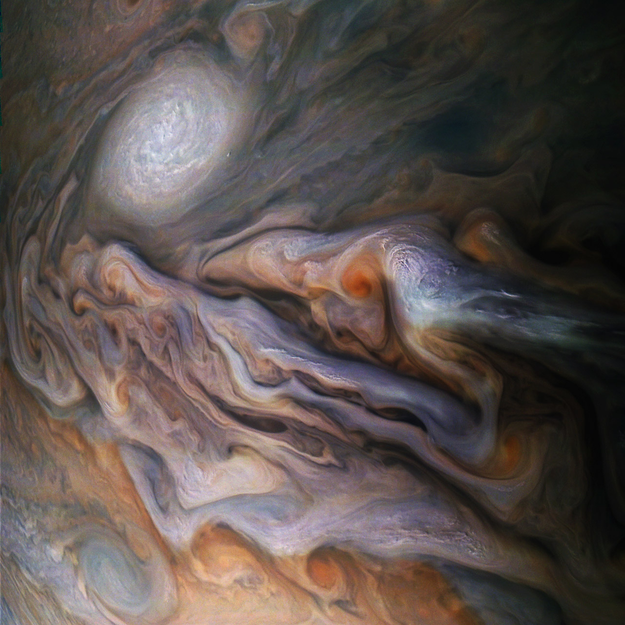 NASA Juno Spacecraft Jupiter White Oval Storm