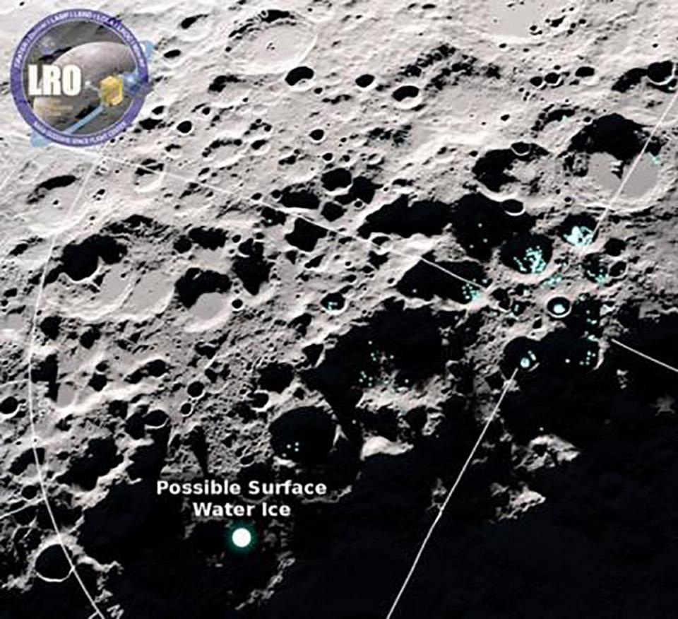 NASA LRO Water Moon