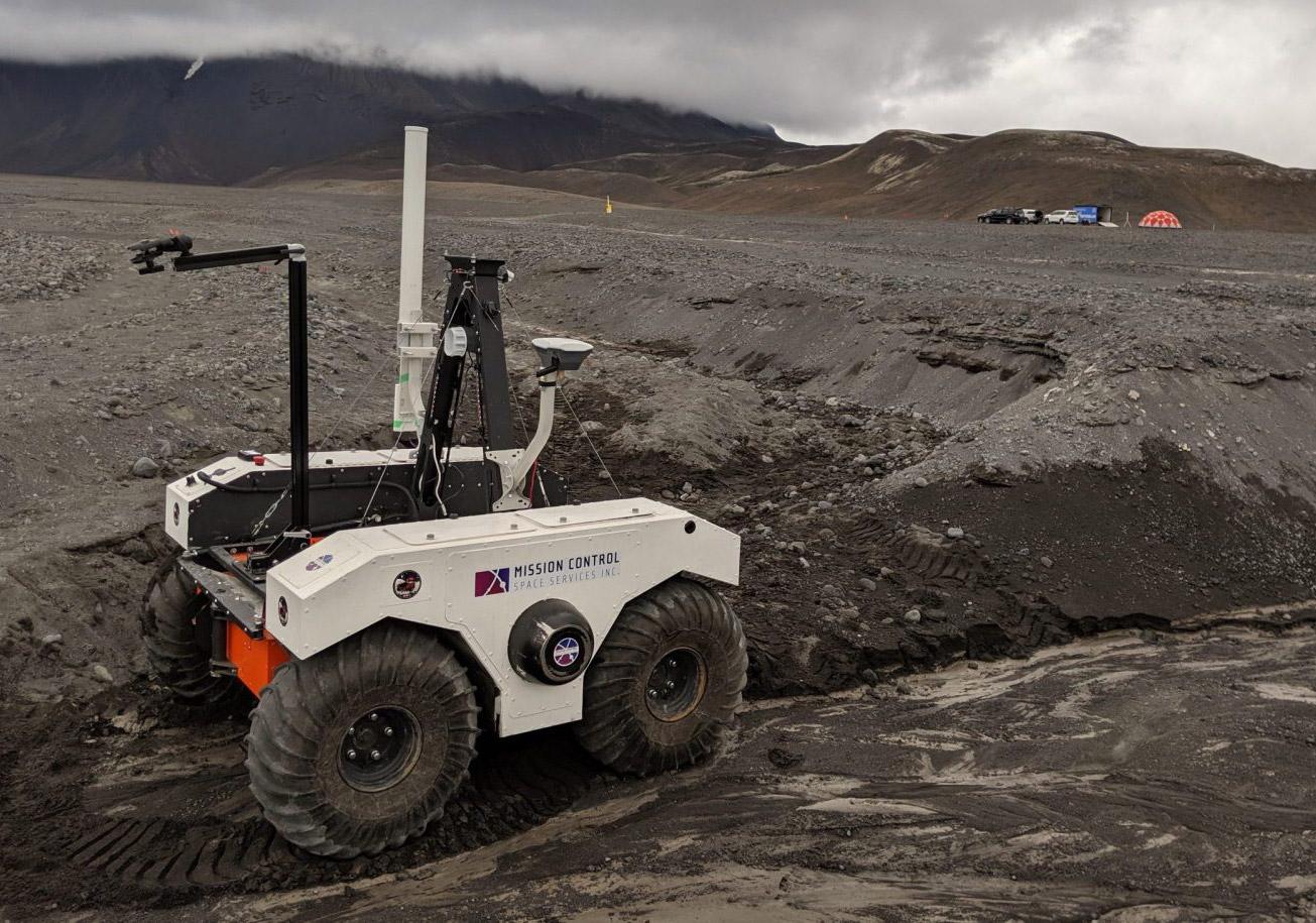 NASA Mars 2020 Rover Lava Field Iceland