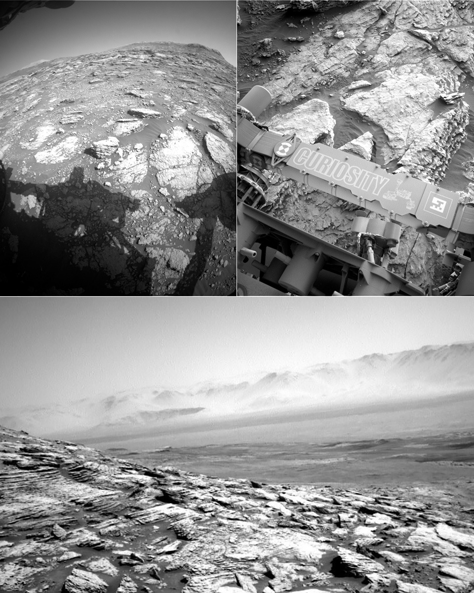 NASA Mars Curiosity Rover Central Butte