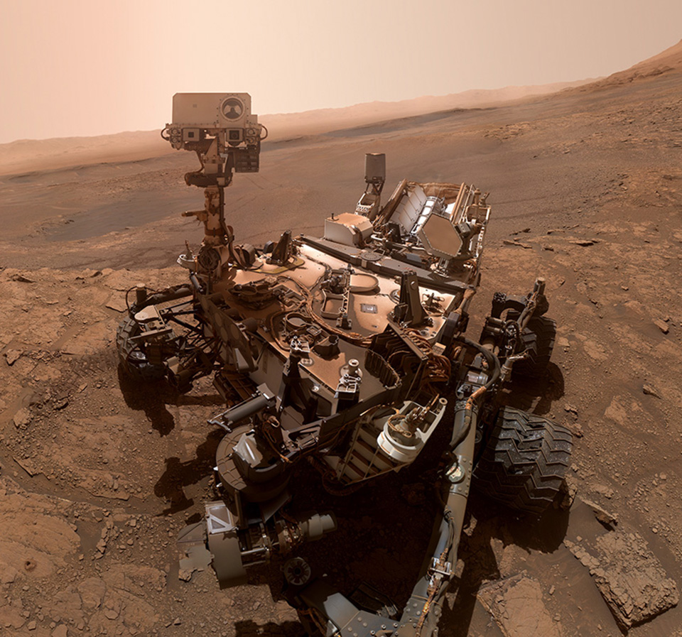 NASA Curiosity Rover Mars Selfie