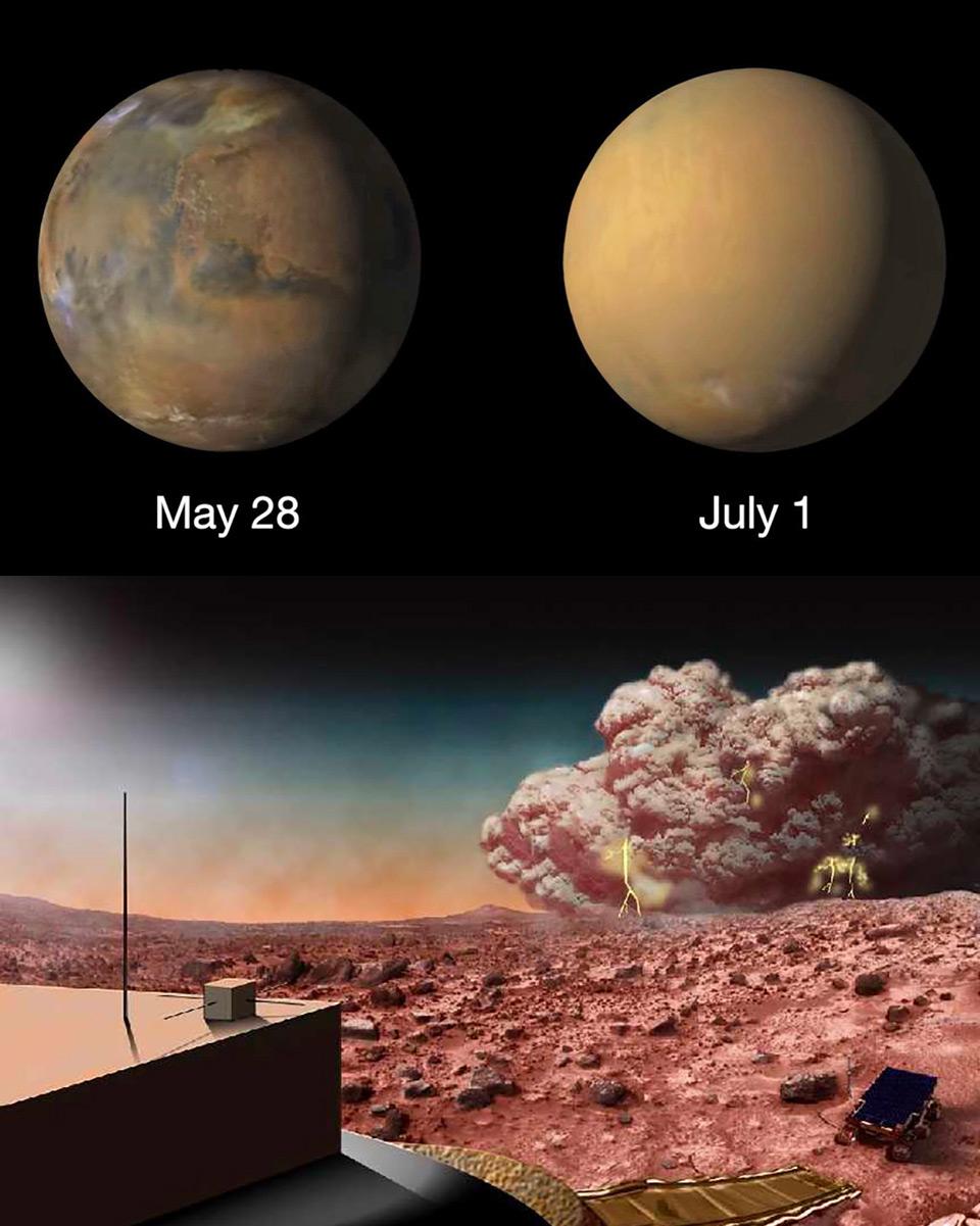 NASA Mars InSight Dust Storm