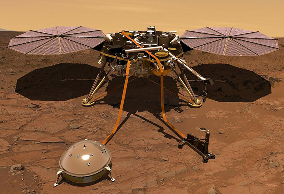 NASA Mars InSight Lander Magnetic Pulses