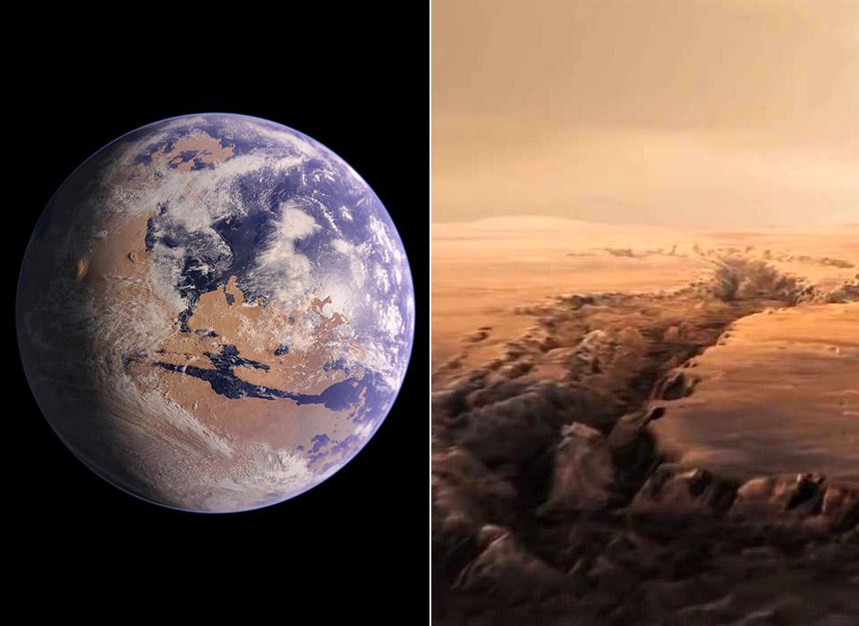 NASA Mars Supervolcano Volcanic Eruption Surface