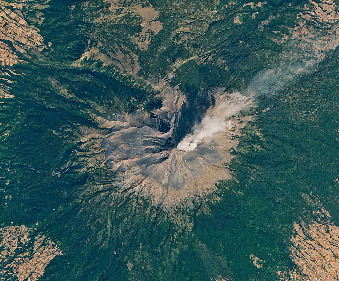 NASA Mexico Popocatepetl Volcano Eruption Space