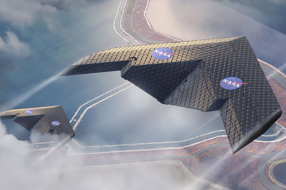 NASA MIT Morphing Airplane Wing