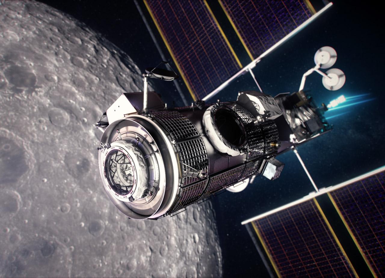 NASA Northrop Grumman Lunar Gateway Outpost Living Quarters HALO