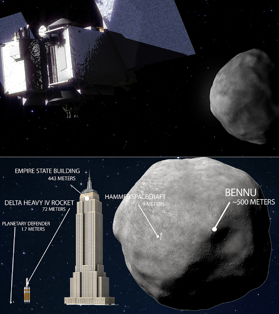 NASA OSIRIS-REx 191955 Bennu Asteroid