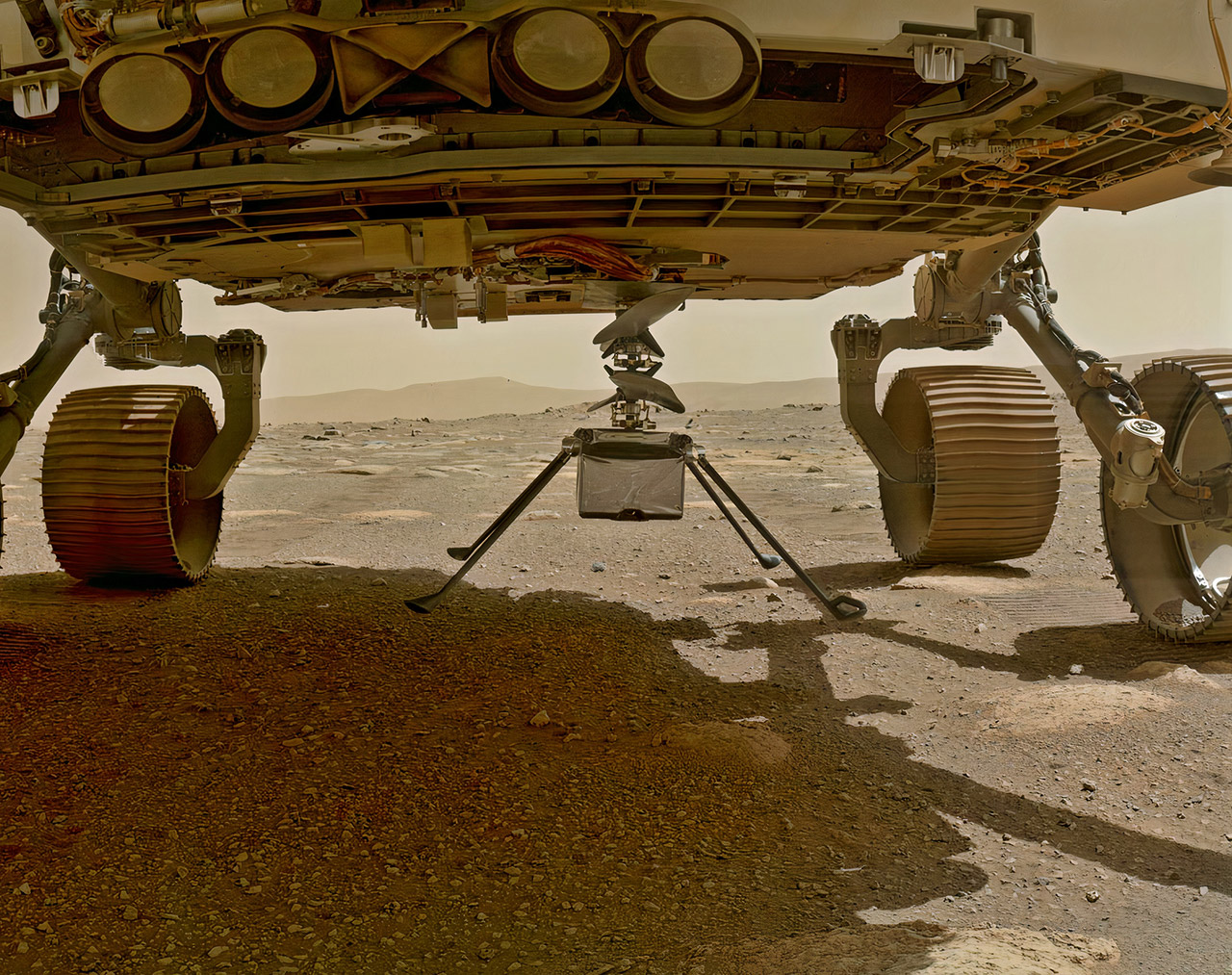 NASA Perseverance Rover Ingenuity Helicopter Drop