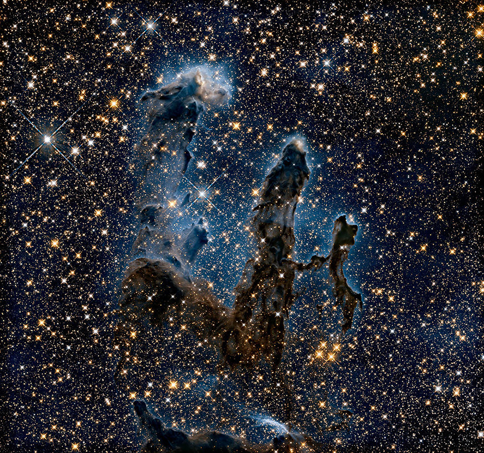 NASA Pillars of Creation Infrared