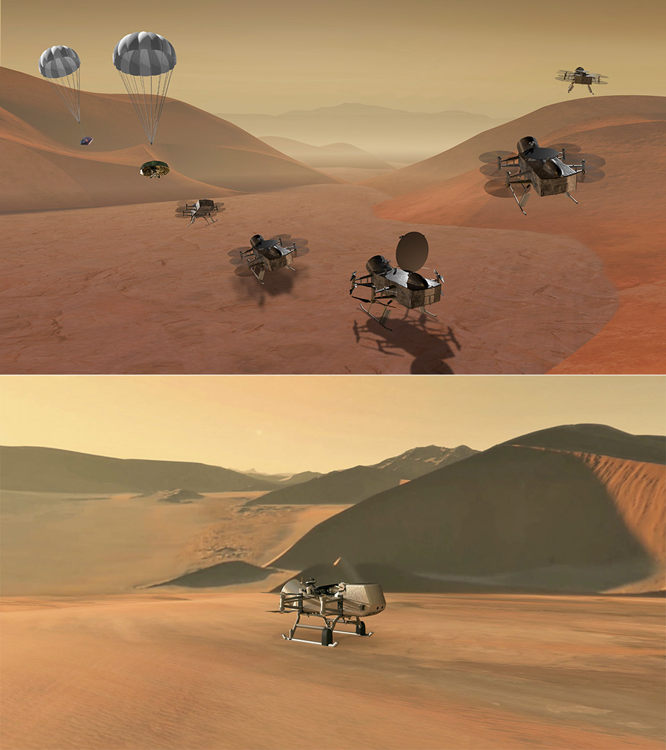 NASA Saturn Titan Dragonfly