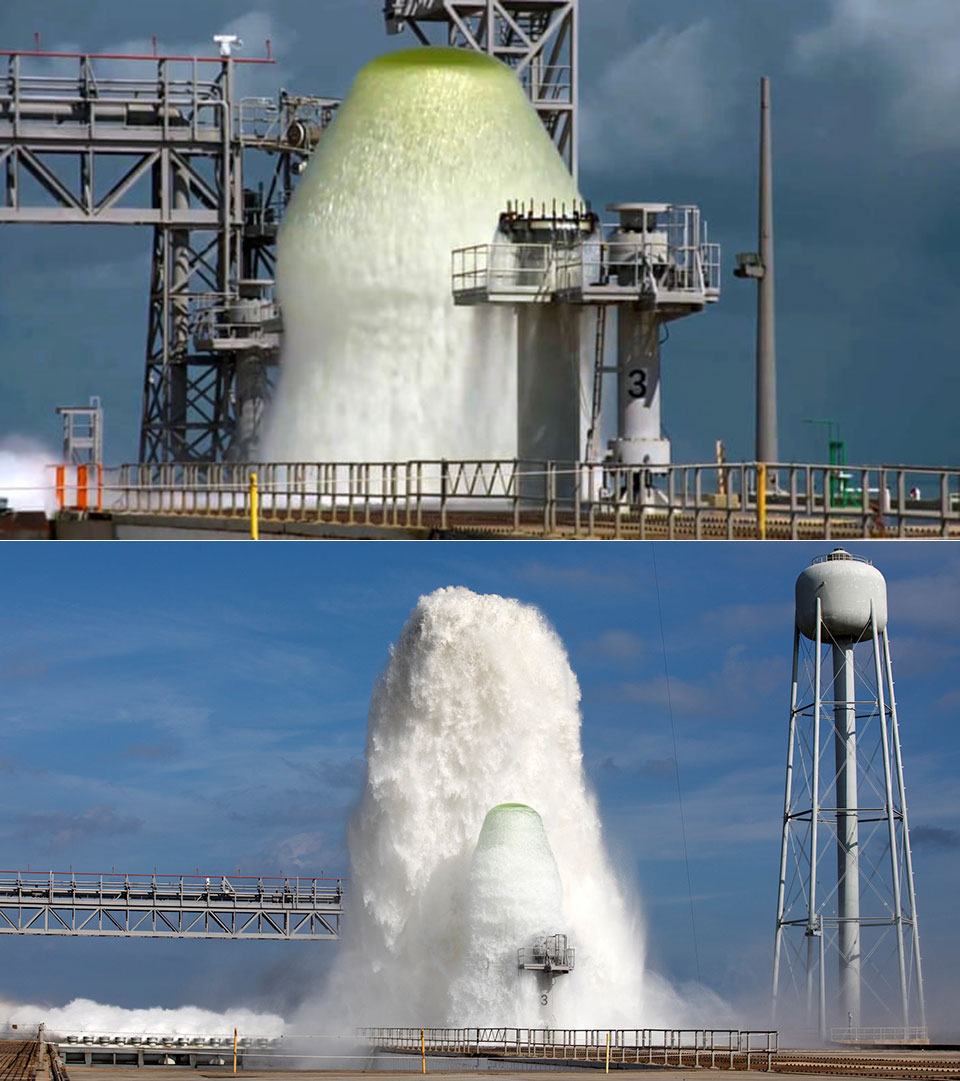 NASA SLS Water Fountain