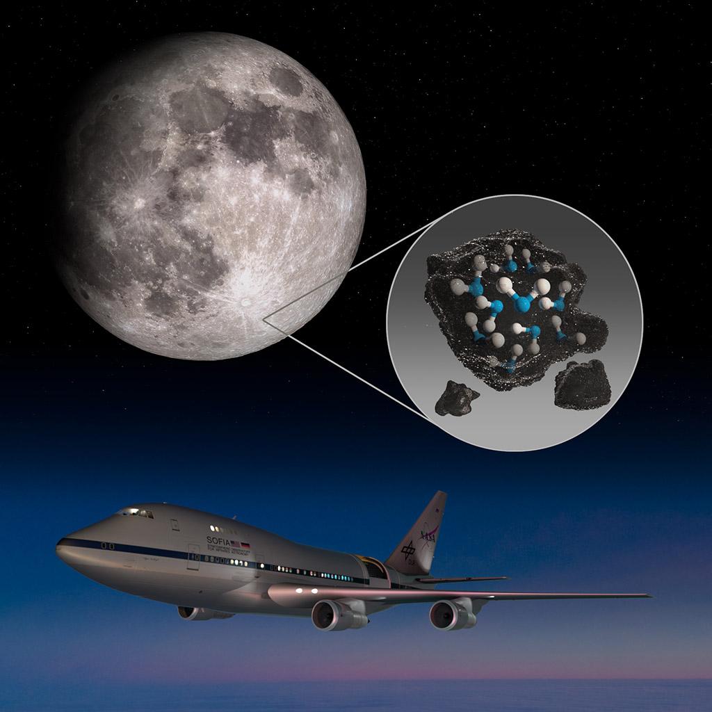 NASA SOFIA Lunar Water Surface