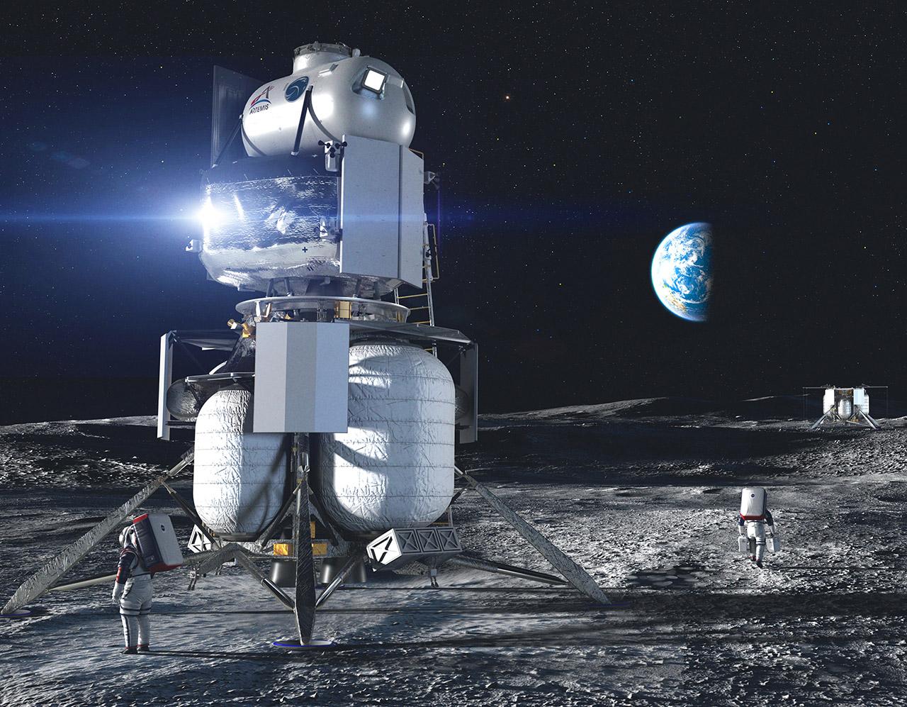 NASA SpaceX Blue Origin Lunar Lander