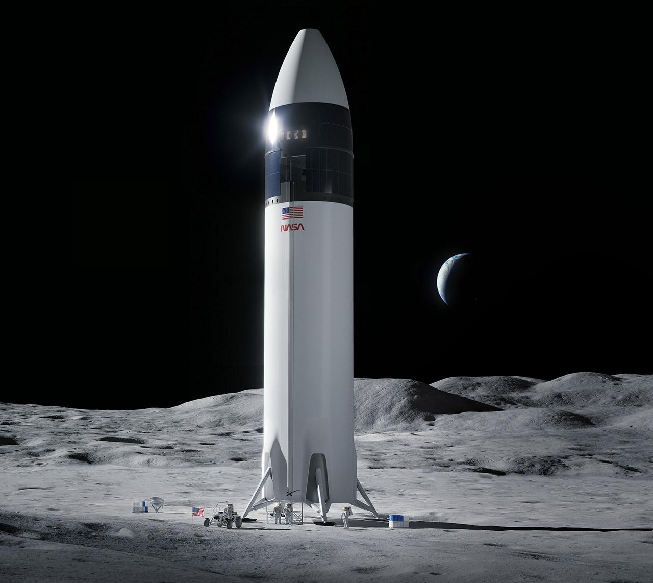 NASA SpaceX Lunar Lander Artemis Moon