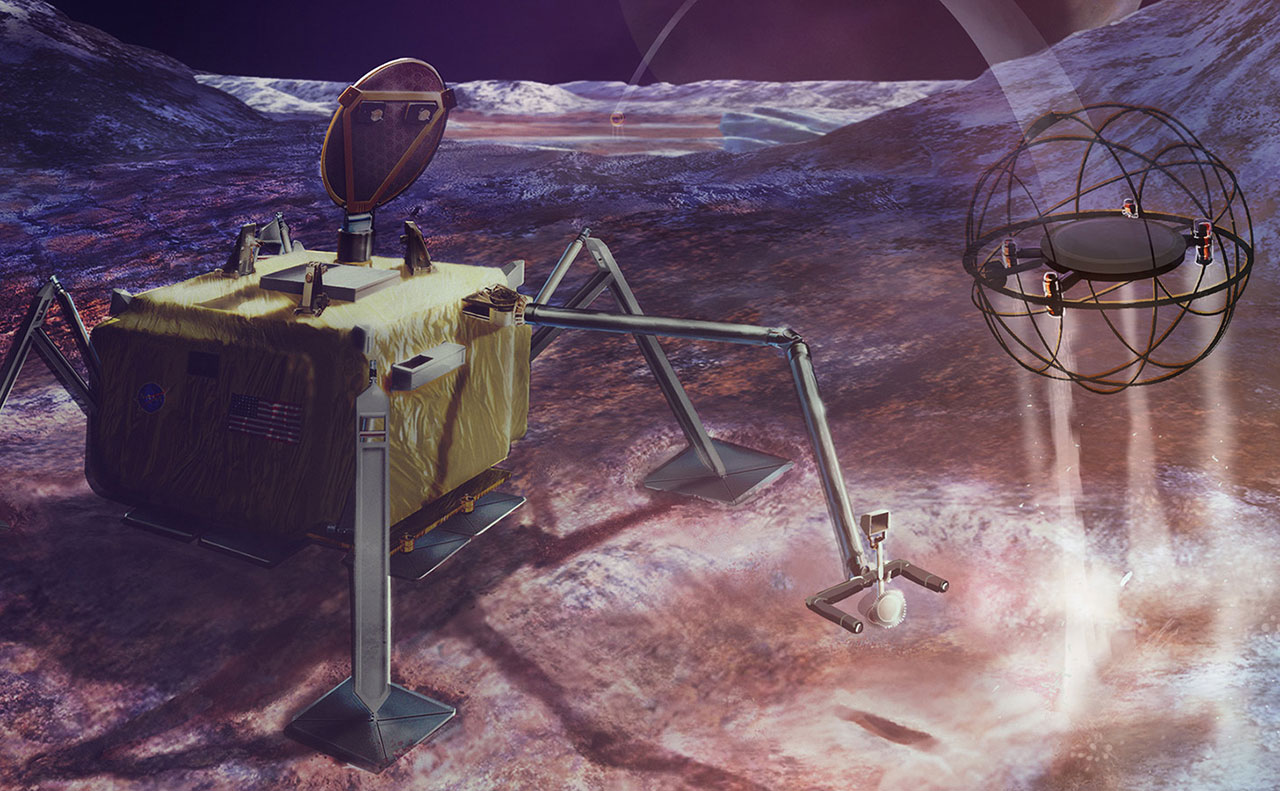 NASA SPARROW Steam Robot Europa