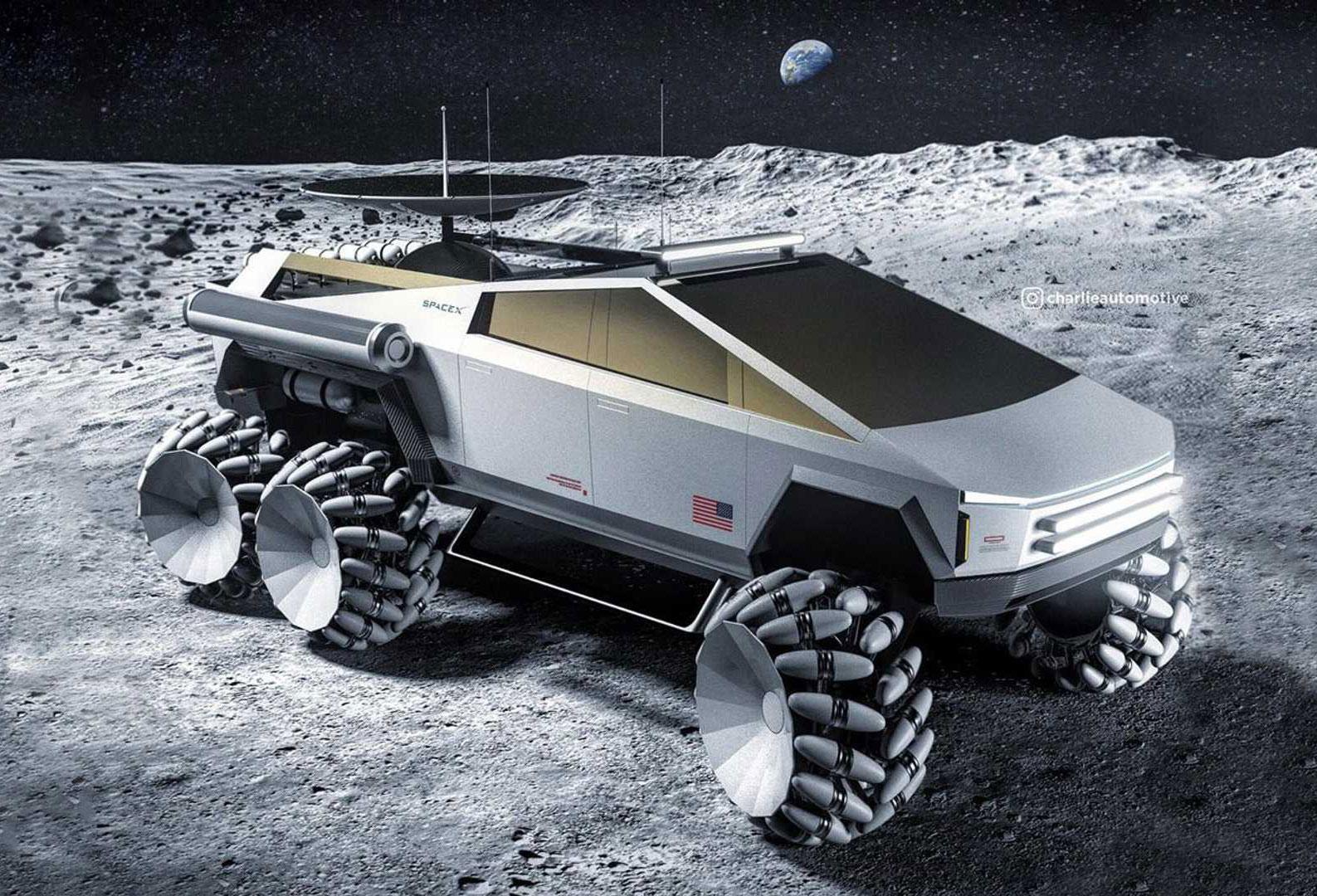 Tesla Cybertruck Moon Lunar Rover