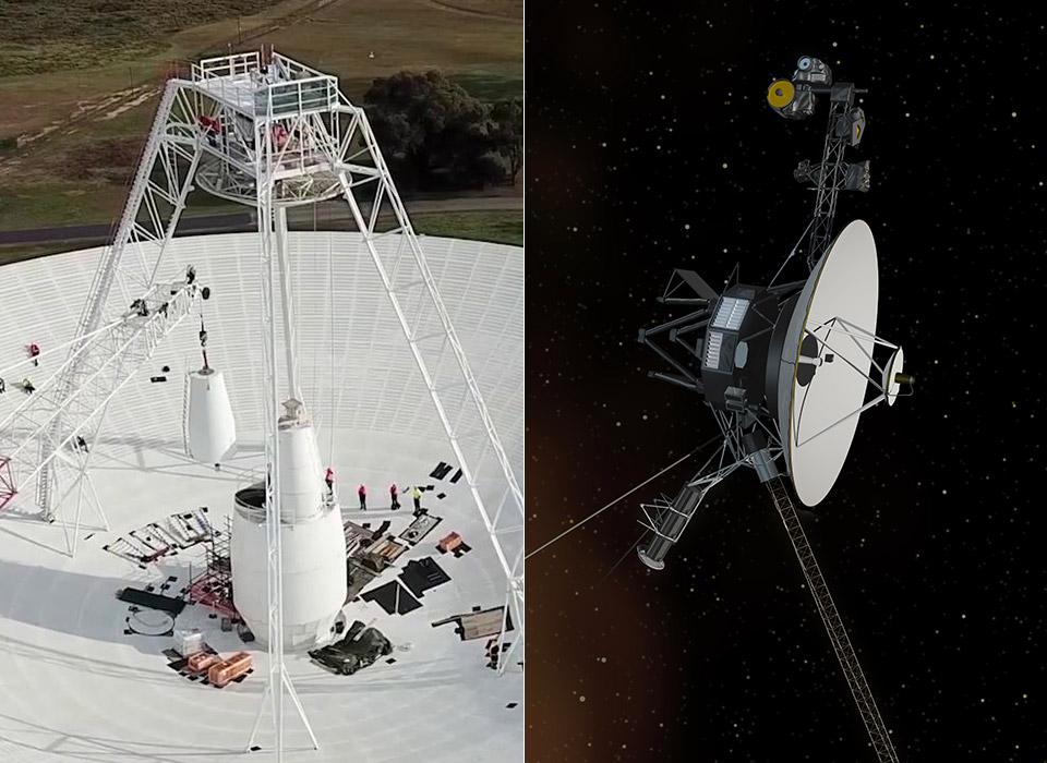 NASA Voyager 2 Deep Space Network Dish