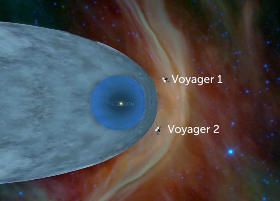 NASA Voyager 2 Solar System Interstellar
