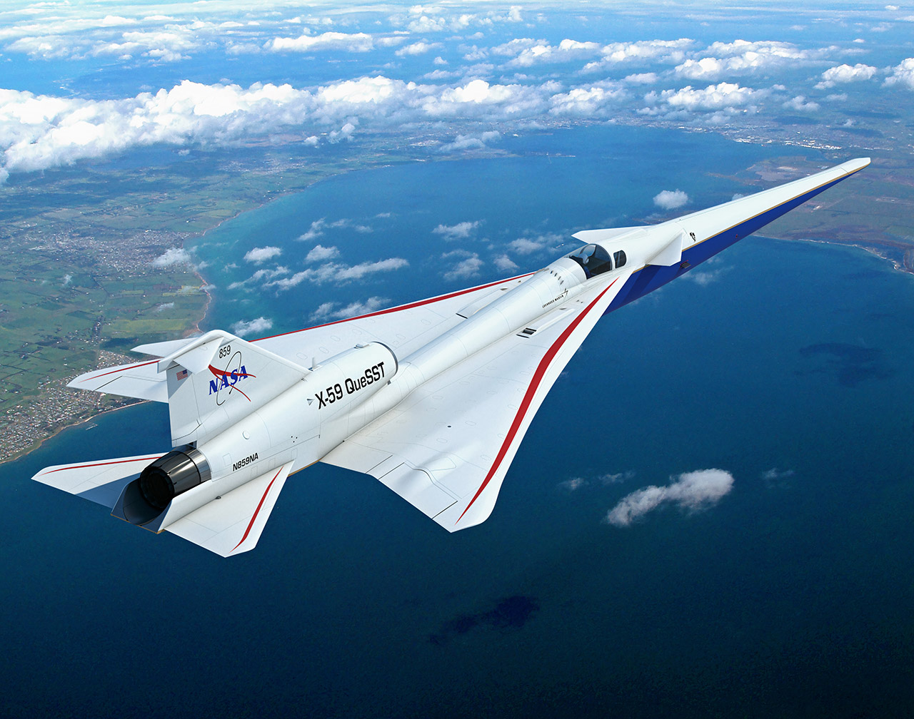 NASA X-59 Quiet SuperSonic Technology Research Aircraft