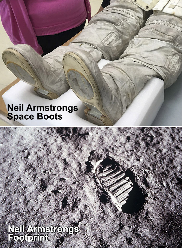 Neil Armstrong Moon Footprint