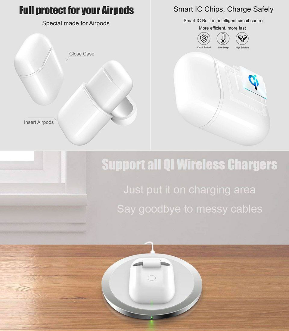 NeotrixQI Wireless Battery Charger Case Apple AirPods