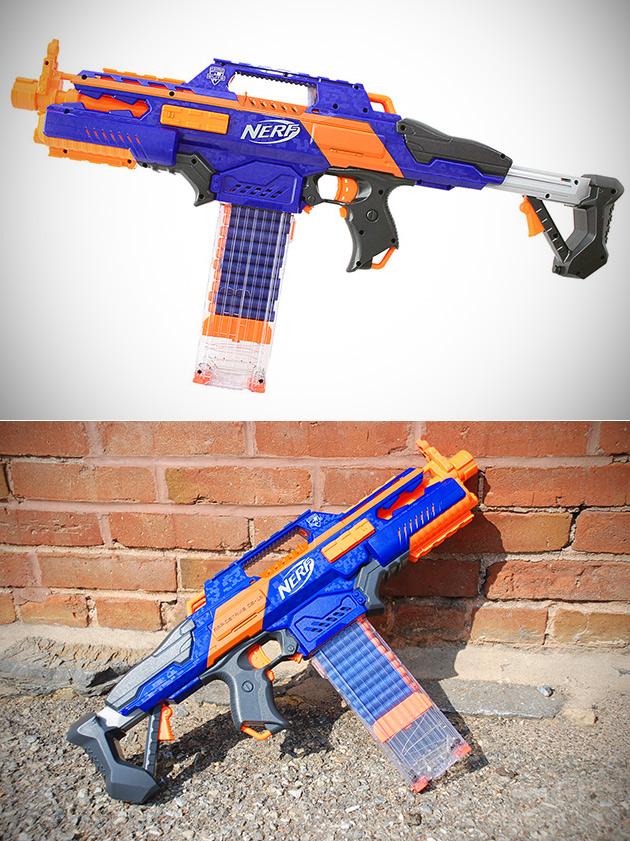 Nerf N-Strike Elite Rapidstrike CS-18 Blaster Feuert Bis zu 3,2-Darts Pro Sekunde, Erhalten Sie Ein für $48.99 Ausgeliefert