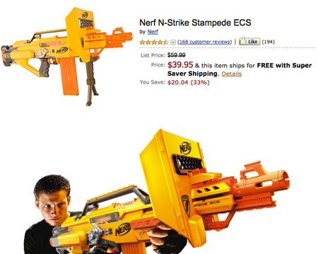 Fully Automatic Nerf N Strike Stampede Ecs Fires 3 Darts