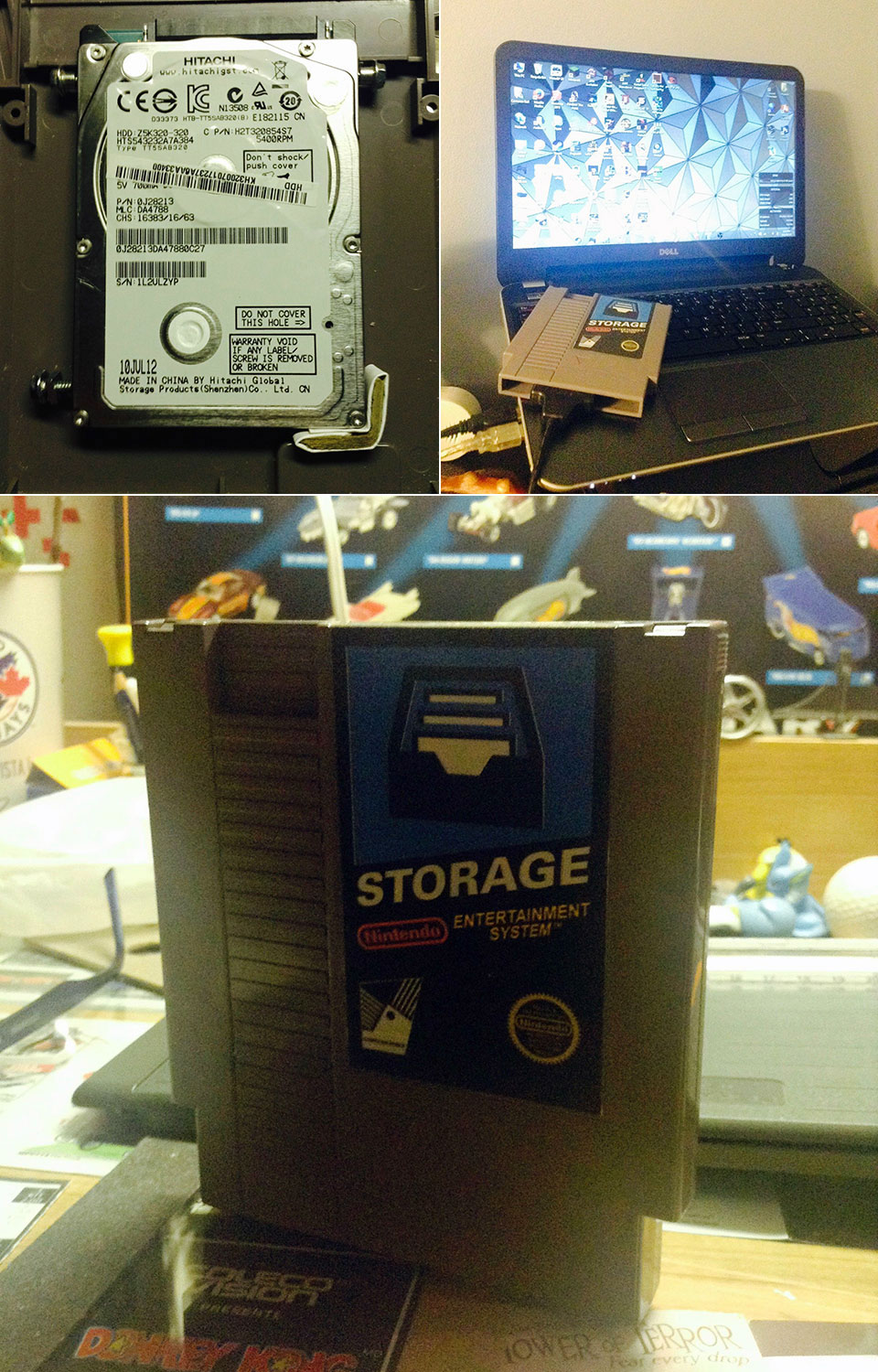 NES Cartridge Hard Drive Mod