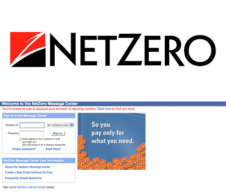 Netzero netzeromessagecenter goes down techeblog for Netzro net