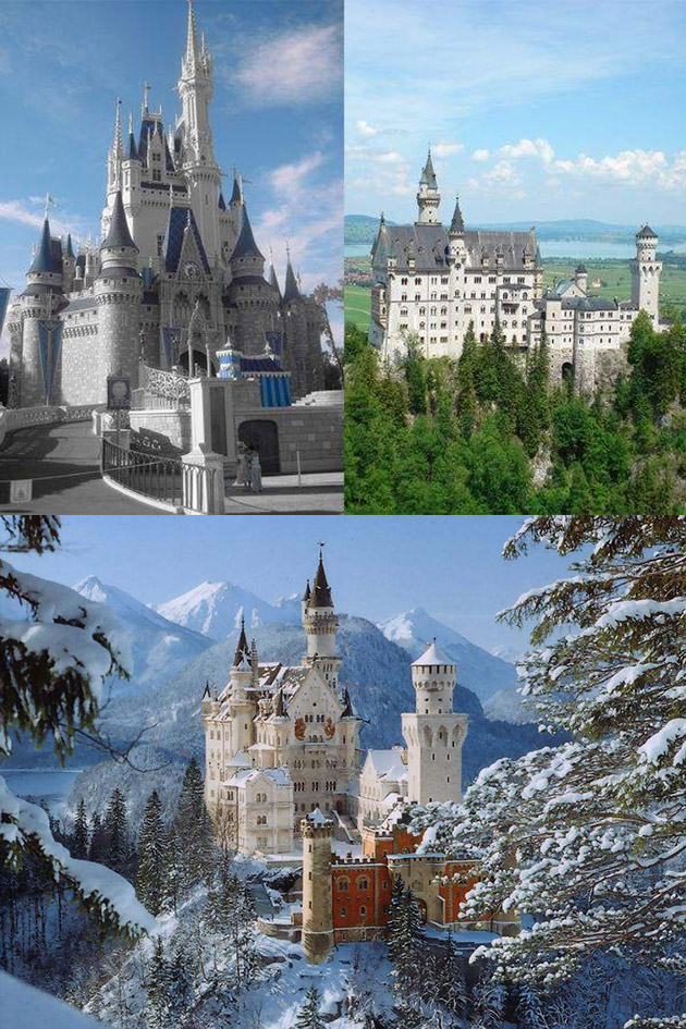 Neuschwanstein Castle Sleeping Beauty Disney