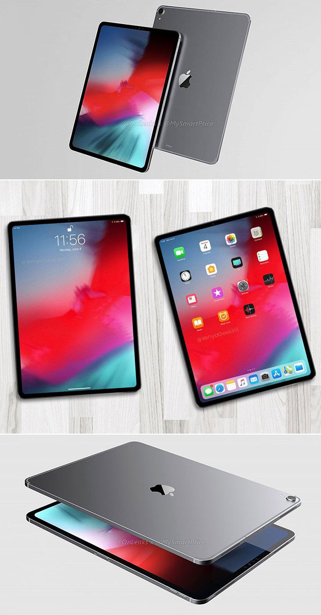 new 2018 ipad pro gets rendered in video has near bezel. Black Bedroom Furniture Sets. Home Design Ideas