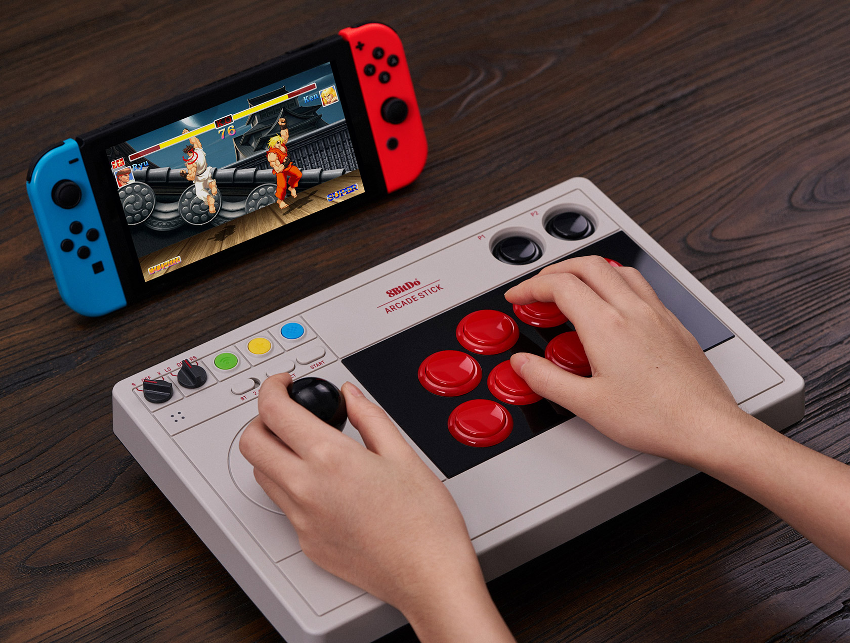 New 8Bitdo Arcade Stick Switch PC