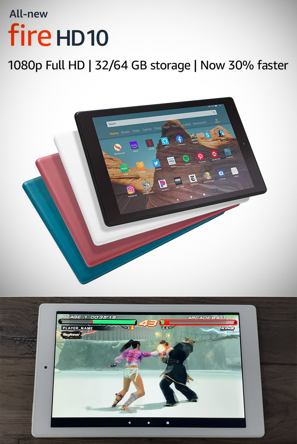 New Amazon Fire HD 10 Tablet