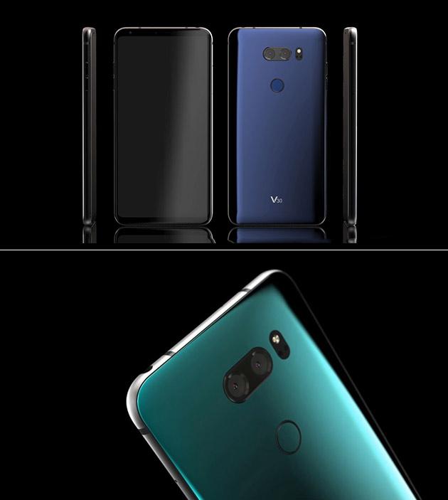 Nouveau LG V30 Smartphone Vidéo Surfaces, Montre Arrière Scanner d'Empreintes digitales