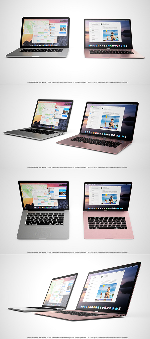 New MacBook Pro Rose Gold