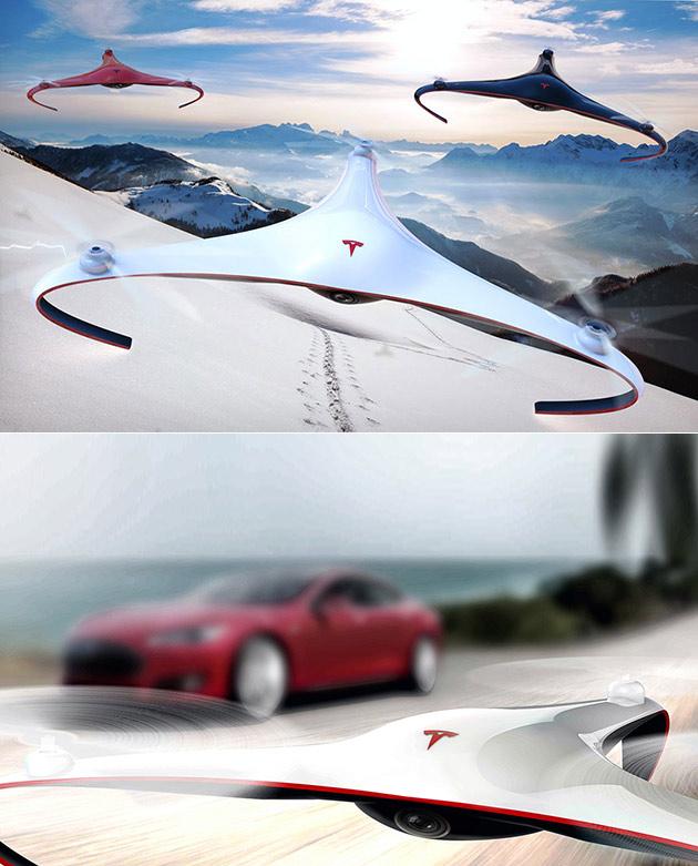 New Tesla Drone