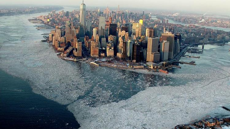 New York Harbour Frozen