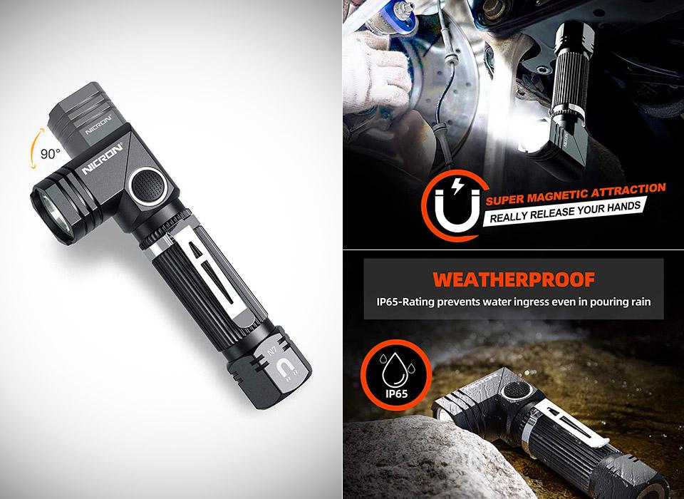 NICRON N7 LED Tactical Flashlight