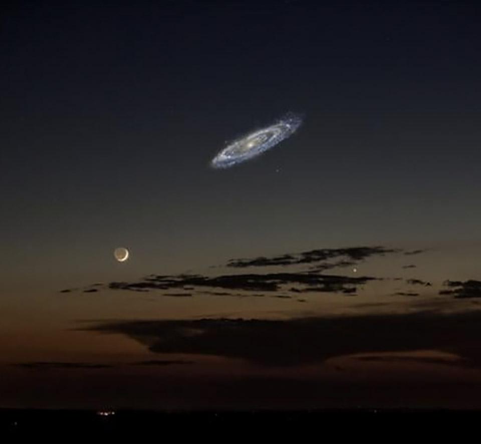 Night Sky Andromeda Milky Way Galaxy