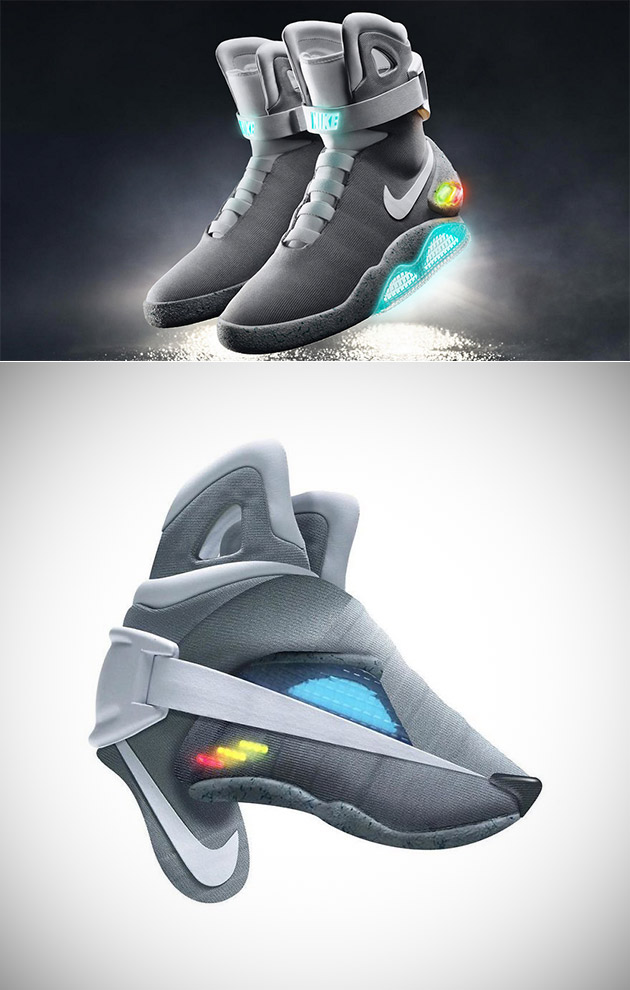0c2676af1 Back to the Future Nike Mag Shoe Wolf and 10 More 3D Sculptures Made from  Old Sneakers