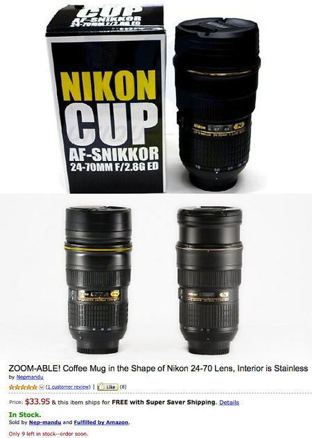 Deal Of The Day Zoomable Nikon Lens Cup For Shipped - Nikon coffee cup lens