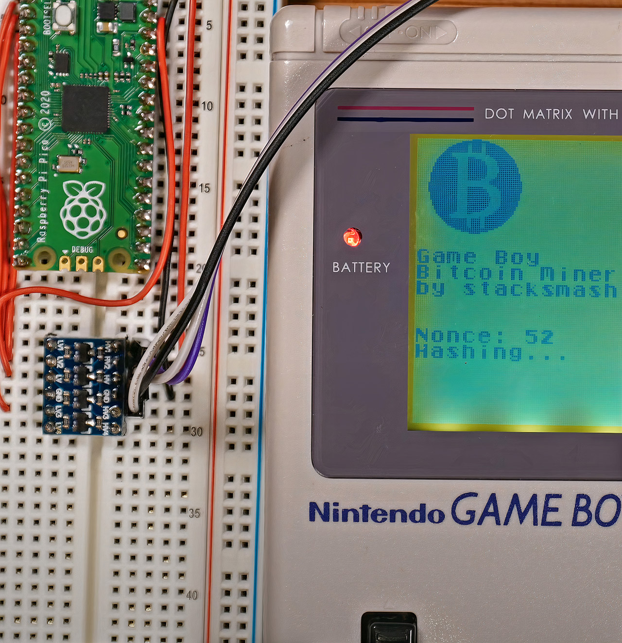 Nintendo Game Boy Bitcoin Mining