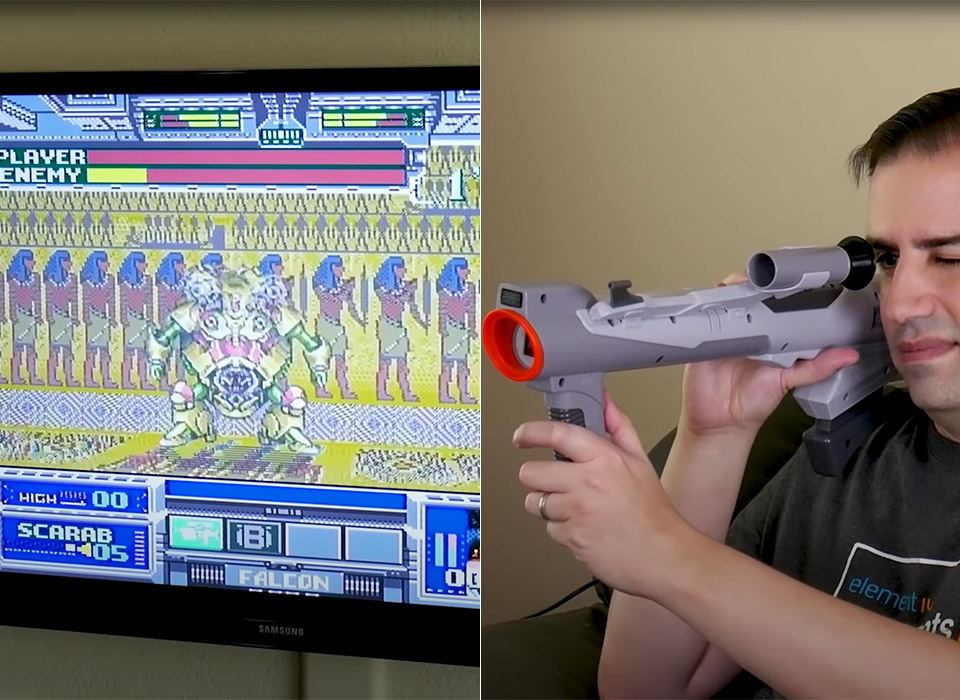 Nintendo Super Scope Mod Modern TV