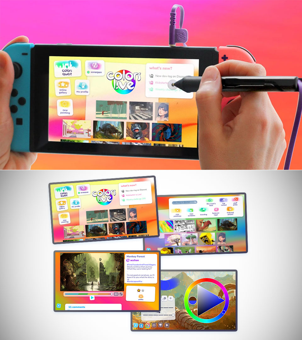 Nintendo Switch Colors Live Pen