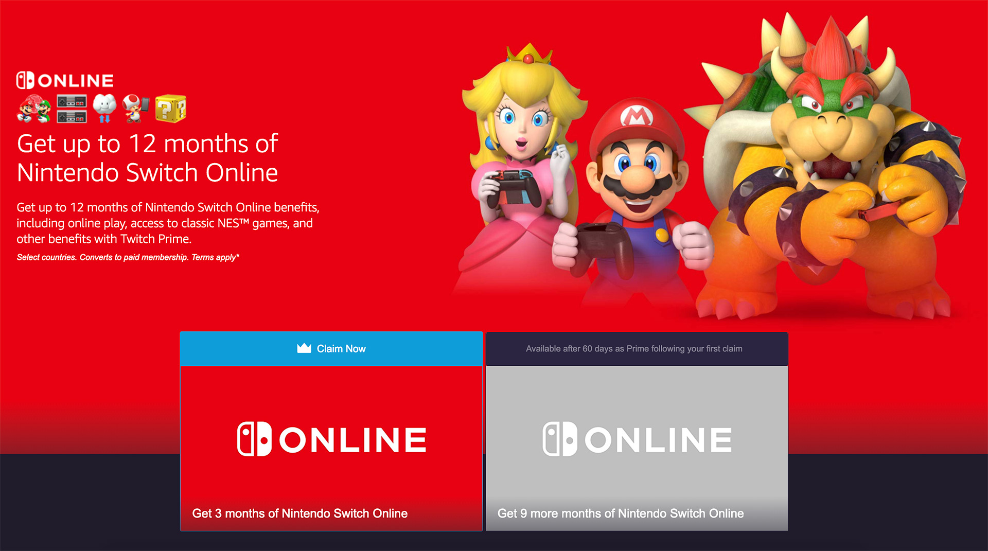 Nintendo Switch Online Free