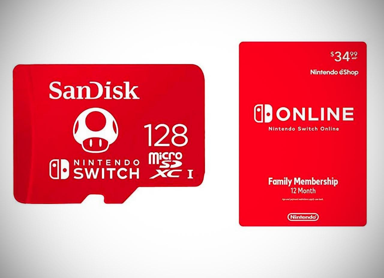 Nintendo Switch Online Membership SanDisk Card